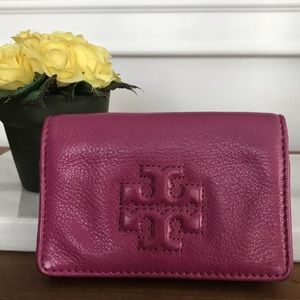 💜Tory Burch Magenta Coin/Credit Card Holder